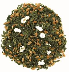 """Genmaicha tea from The English Tea Store that is by far the best-priced tea per pound ($14 and change). Delicious, very """"roasty."""" None of that bitter green-tea taste often associated with it."""