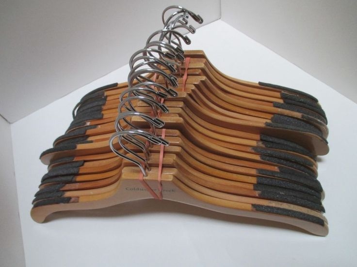 Coldwater Creek Hangers Lot of 30 Store Used Wooden Maple Swivel Clotheshangers #ColdwaterCreek