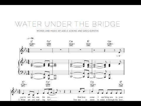 Water Under the Bridge - Adele [Sheet & Midi Download] #sheetmusic #midi #download #adele #waterunderthebridge Download link: http://goo.gl/okUPsz