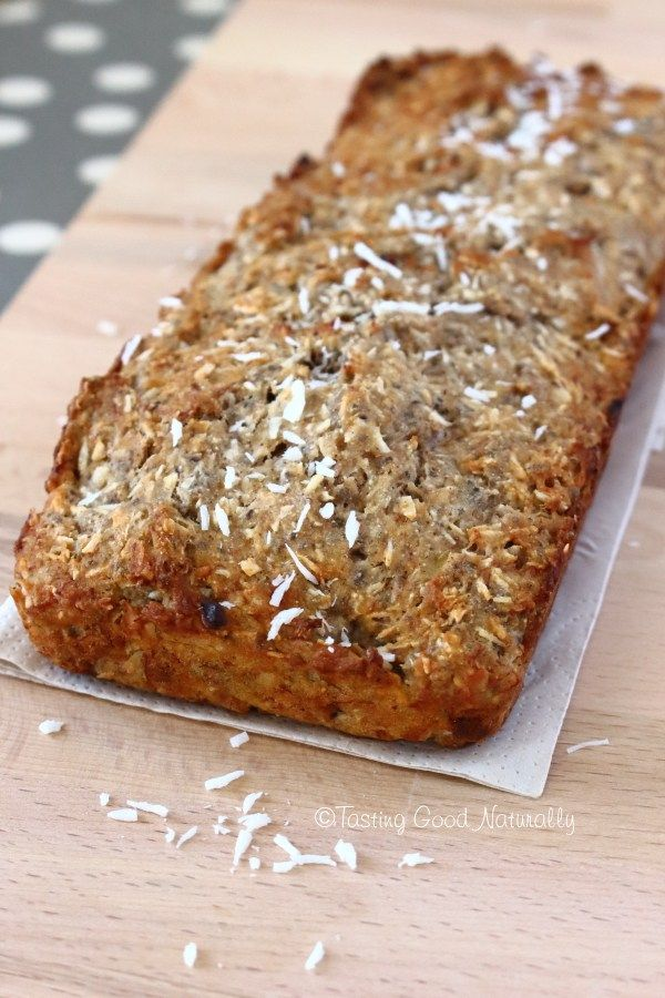 Cake à la Banane & à la Noix de Coco ~ vegan et sans gluten ~ tastinggoodnaturally.com