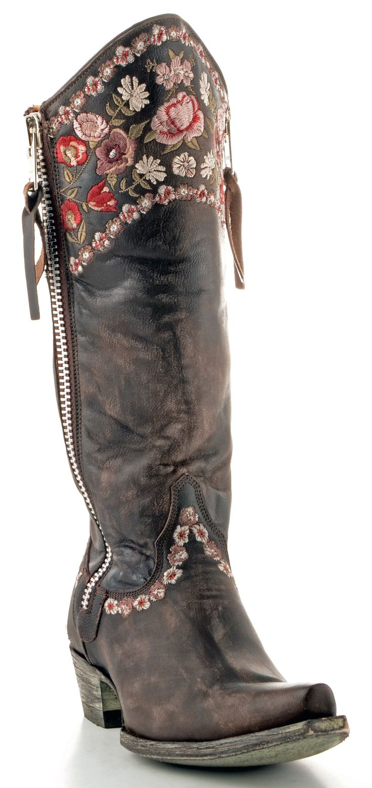 Women's old Gringo Gayla razz boots in chocolate.