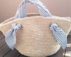 Кобальт синий корзина сумка (1 пункт только запас) с бахромой | корзина сумка | amitiku | ручной заказ по почте и продаж Creema
