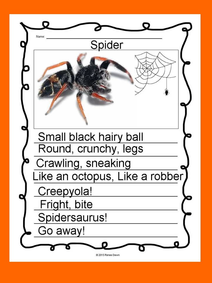 Poetry Writing: Kids create free verse poems that are breath-taking display pieces. Creative, divergent thinking pops off the page. Complete writer's workshop lessons—16 in all—will build poetry step-by-step. Lists, charts and examples support each lesson. For K - 5; Spider.