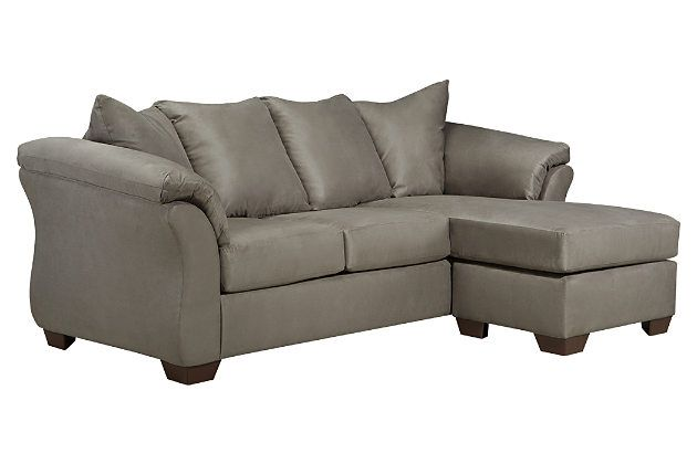 Gray Darcy Sofa Chaise by Ashley Furniture, Polyester (100 %)