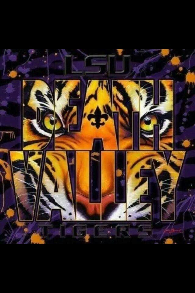 lsu tigers football death valley saints tiger louisiana purple gold colors state university college stadium print saturday screensavers clemson awesome