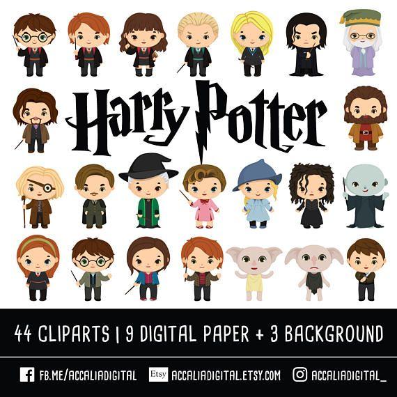 Harry Potter Clipart Bundle Wizzard clip art magic clipart