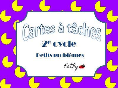 La classe de madame Kathy: cartes à tâches