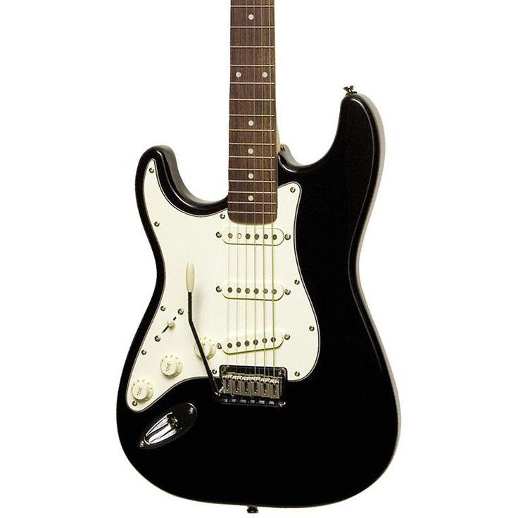 Squier Standard Stratocaster Left-Handed Electric Guitar Black Metallic Rosewood Fretboard
