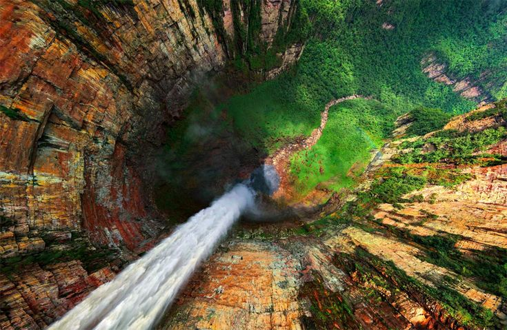 dragon falls from above: Favorite Places, The View, Venezuela, National Parks, U.S. States, Angel Fall, Photo, Dragon Fall, The World