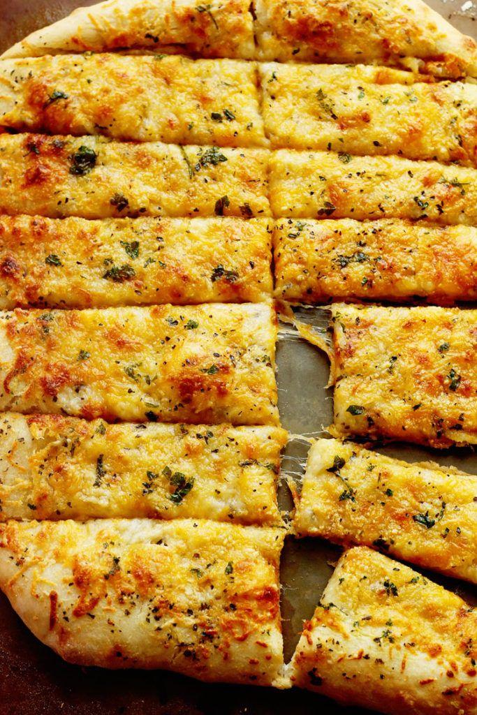 Homemade Garlic Cheese Breadsticks - Grandbaby Cakes