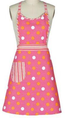 Pink Dot Girlie vintage apron