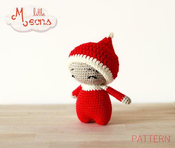 PATRON crochet - Toupetit little Meons - Patron amigurumi, amigurumi crochet, Patron amigurumi de noel, lutin de noel