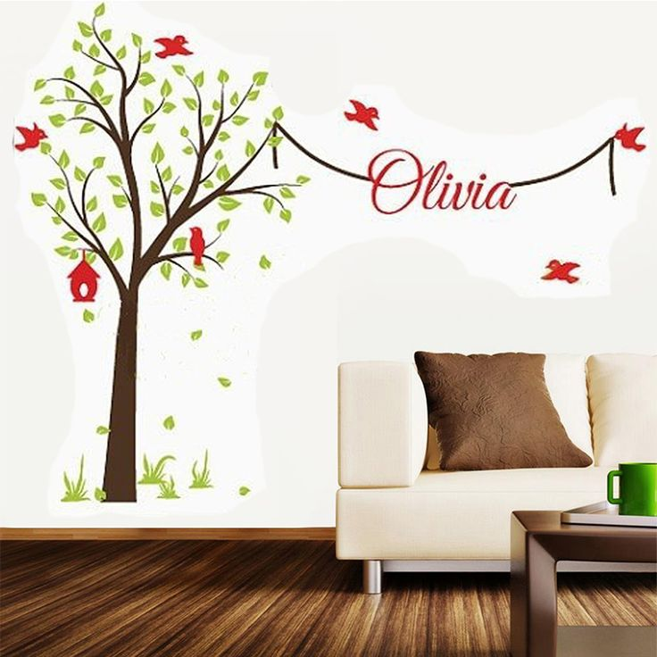 Tree Wall Stickers With Name Decal Elegant Garden Tree Nursery Wall Decor Tree Wall Sticker With Name For Boys And Girls Rooms. * AliExpress Affiliate's buyable pin. Find similar products on www.aliexpress.com by clicking the VISIT button