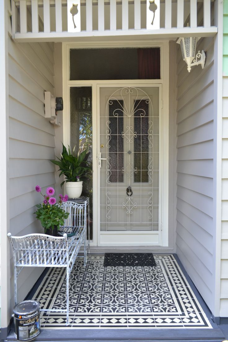 My front veranda I entered into a painting competition and won best exterior for my state.