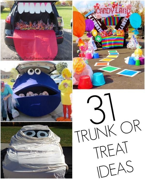 Trunk or Treat decorating ideas!