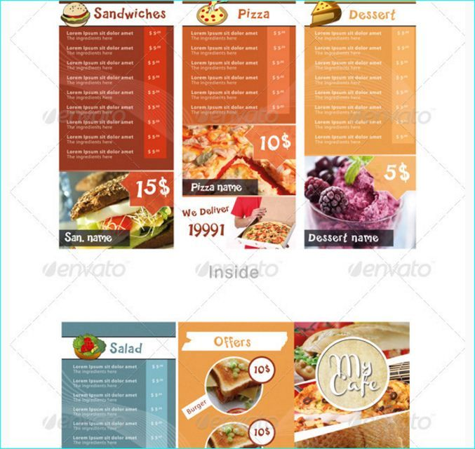21 Best 20 Tasteful & Beautifully Designed Restaurant Menu