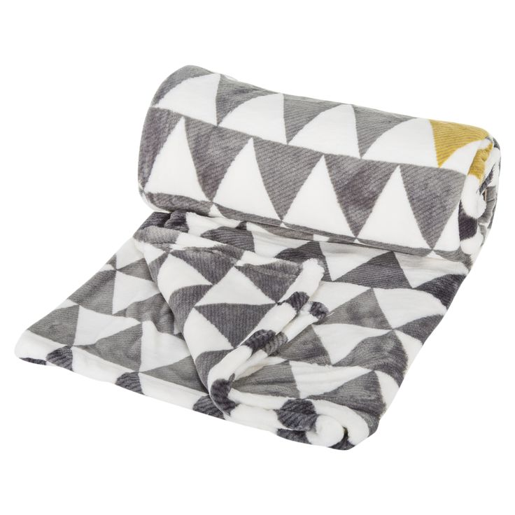Geo Triangle Flannel Throw
