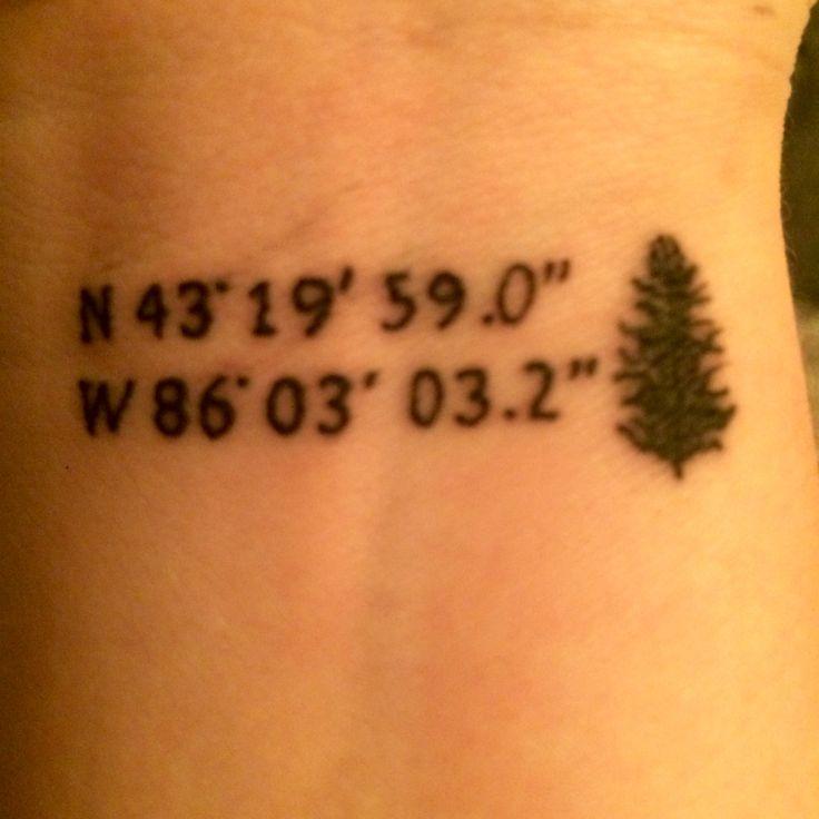 how to make coordinates tattoo