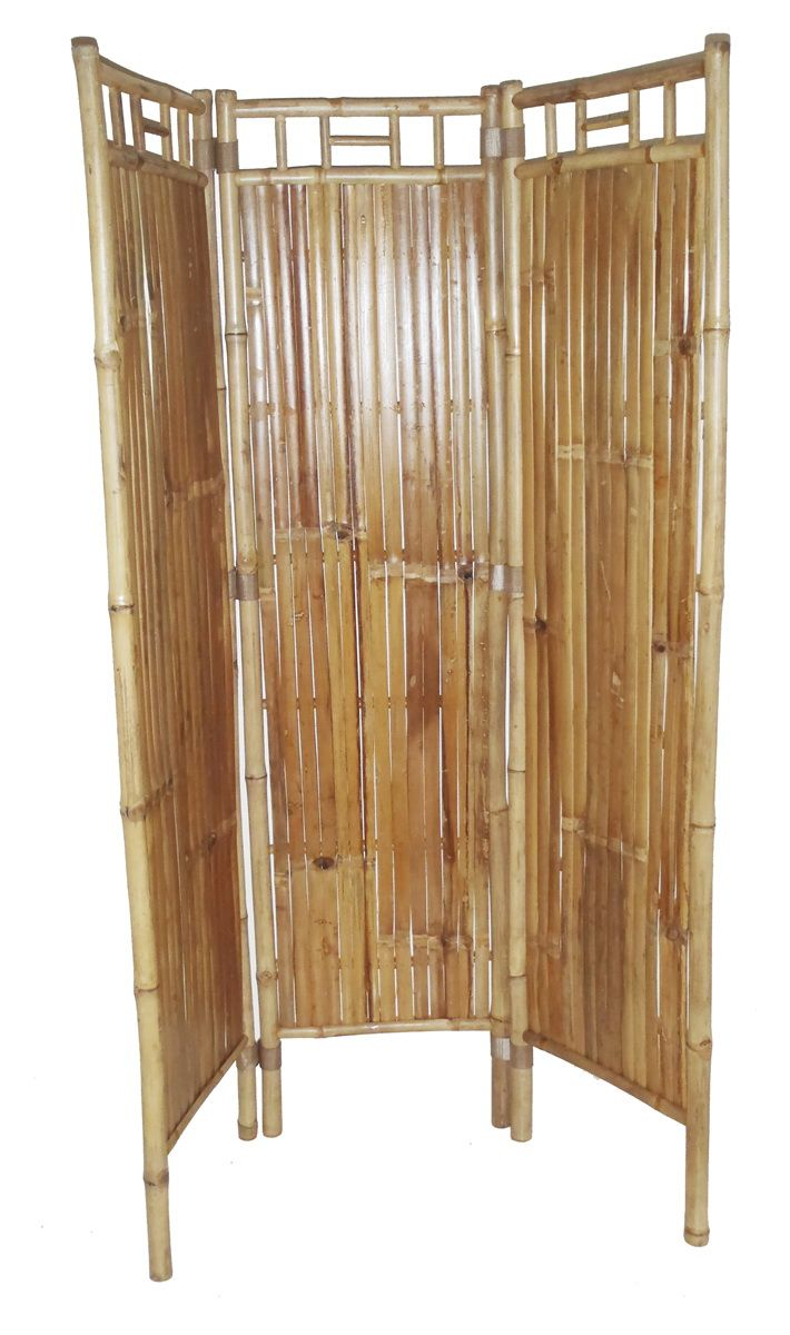 Beautiful Opentip Bamboo Bamboo three panel screen