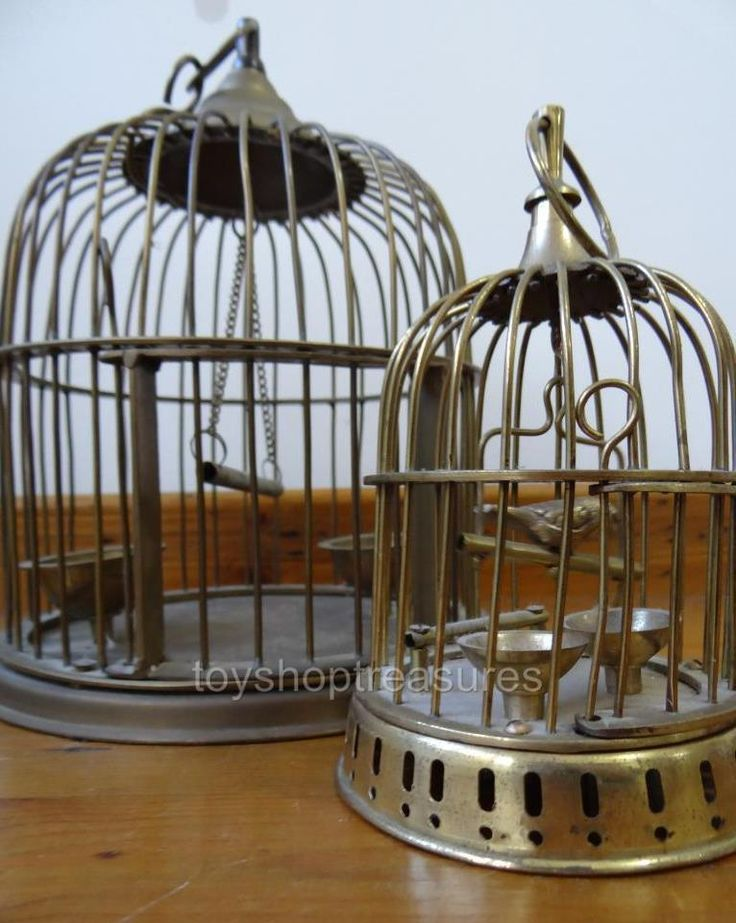 2 Decorative Vintage Brass Bird Cages - Hang or Table Top Wedding | eBay