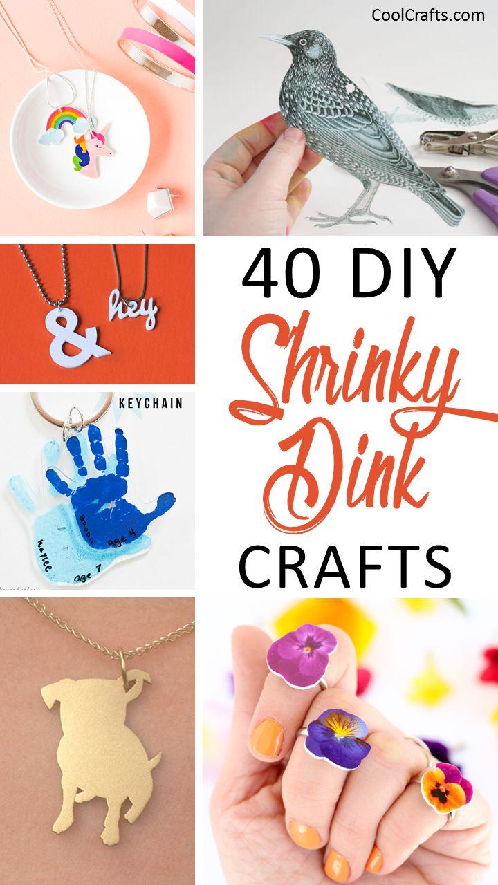 40 DIY Shrinky Dink Plastic Craft Ideas