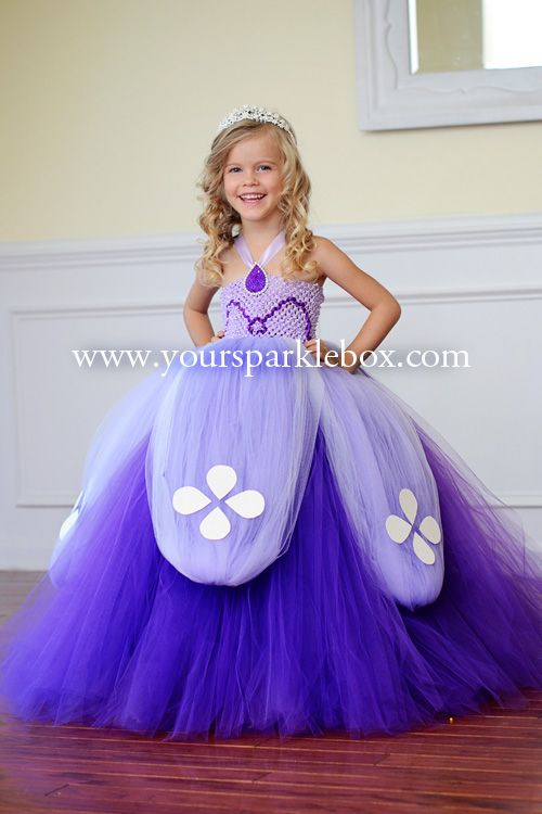 Sofia the First Tutu Dress by YourSparkleBox