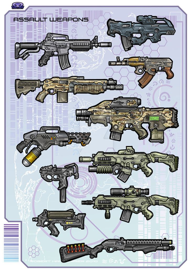 Assault Rifles, Shotguns, and some SMGs (just to fill the gap...)
