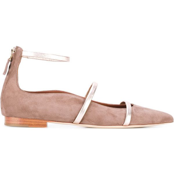 Malone Souliers Robyn ballerinas (2,930 CNY) ❤ liked on Polyvore featuring shoes, flats, nude, leather ballerina shoes, beige ballet shoes, ballet flats, genuine leather shoes and malone souliers