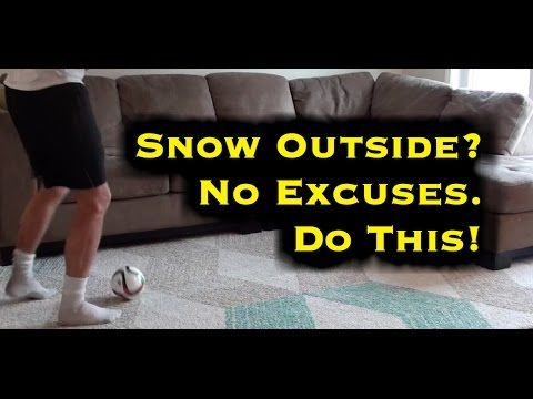"""""""I can't train outside!"""" Try these soccer passing drills at home: https://www.youtube.com/watch?v=tP456oTW52k"""