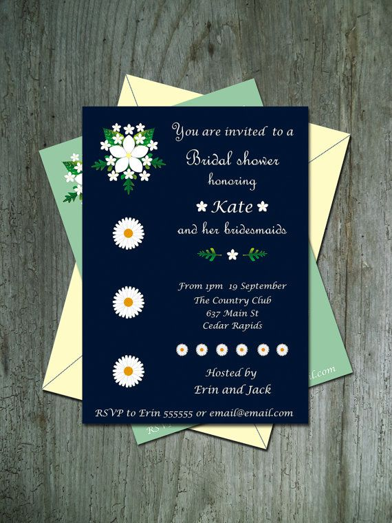 Bridal shower invitation printable Floral by LalaMcWonderland