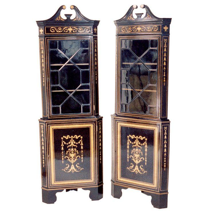 Sheraton Style Corner Cabinets