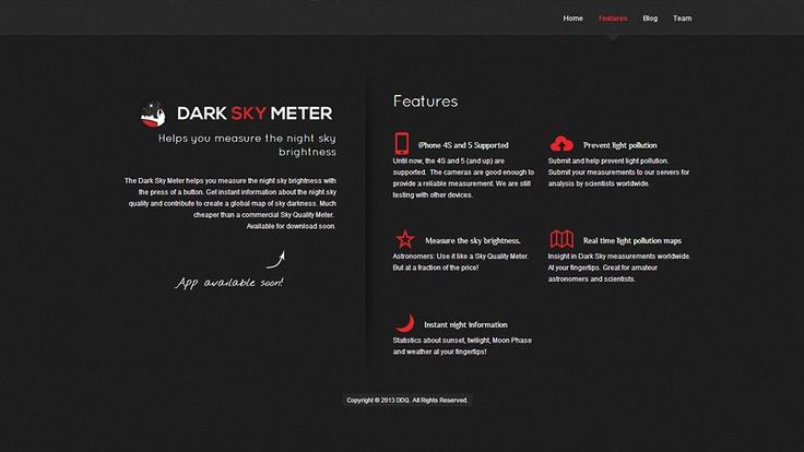De Dark Sky Meter App helpt je de nachtelijke hemellicht te meten met een druk op de knop. Krijg direct informatie over de nachtelijke hemel kwaliteit en draag bij tot een globale kaart van de hemel de duisternis te creëren. Veel goedkoper dan een commercieel Sky Quality Meter.