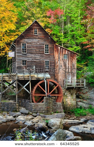 When I invented the satellite community of Brand's Mill, where Wendy MacIntyre runs Custom House Publishing, I had in mind a mill like this, where people were able to get their flour. Of course, in my story there's a small town built up around the mill.