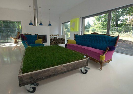 A Gorgeous Green Coffee Table Of Grass — Design Boom