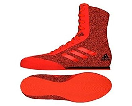 adidas Box Hog Plus Boxing Boot - Red/Black (UK9). Boxing shoes. Boxing equipment. Boxing accessories. Boxing kit. It's an Amazon affiliate link.