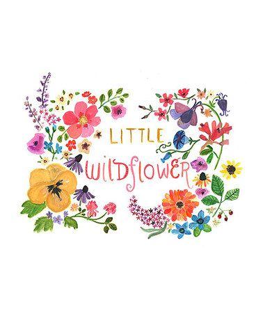 Another great find on #zulily! 'Little Wildflower' Print by trafalgar's square #zulilyfinds