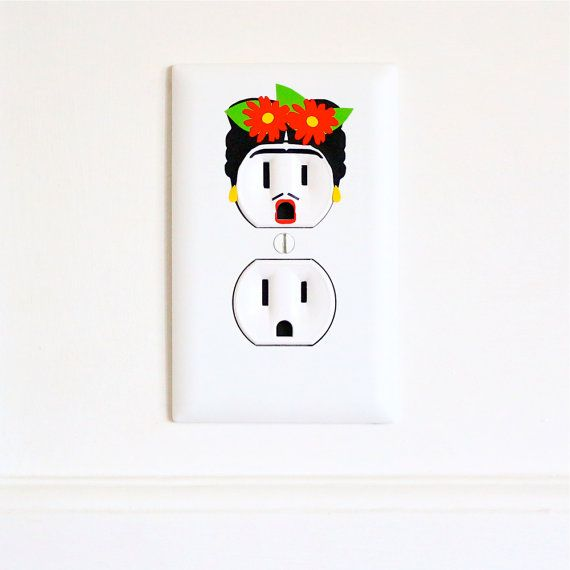 Hey, I found this really awesome Etsy listing at https://www.etsy.com/listing/188516993/frida-kahlo-electric-outlet-wall-art