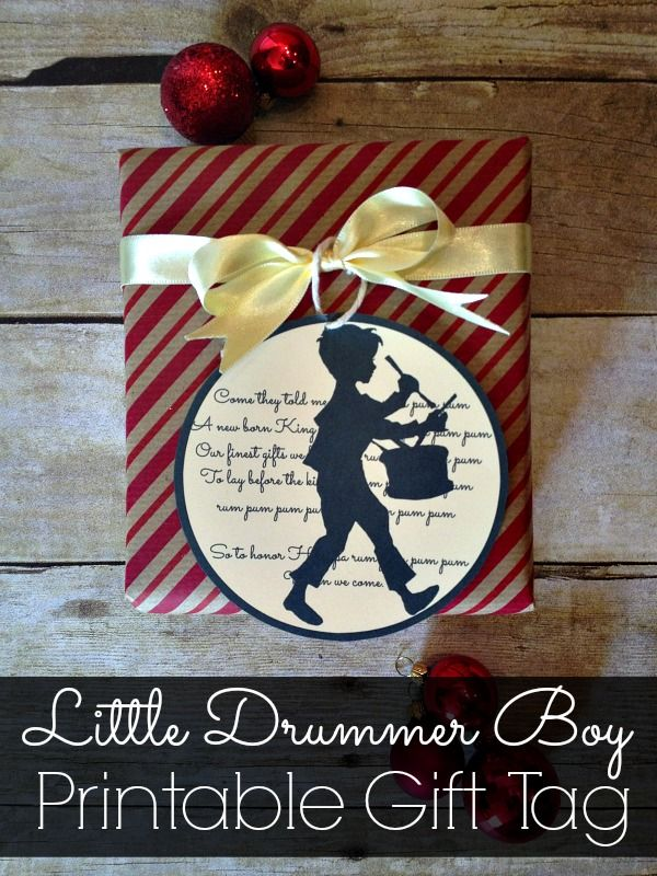 Love this Little Drummer Boy gift tag. Perfect for the season.  12 Days of Christmas