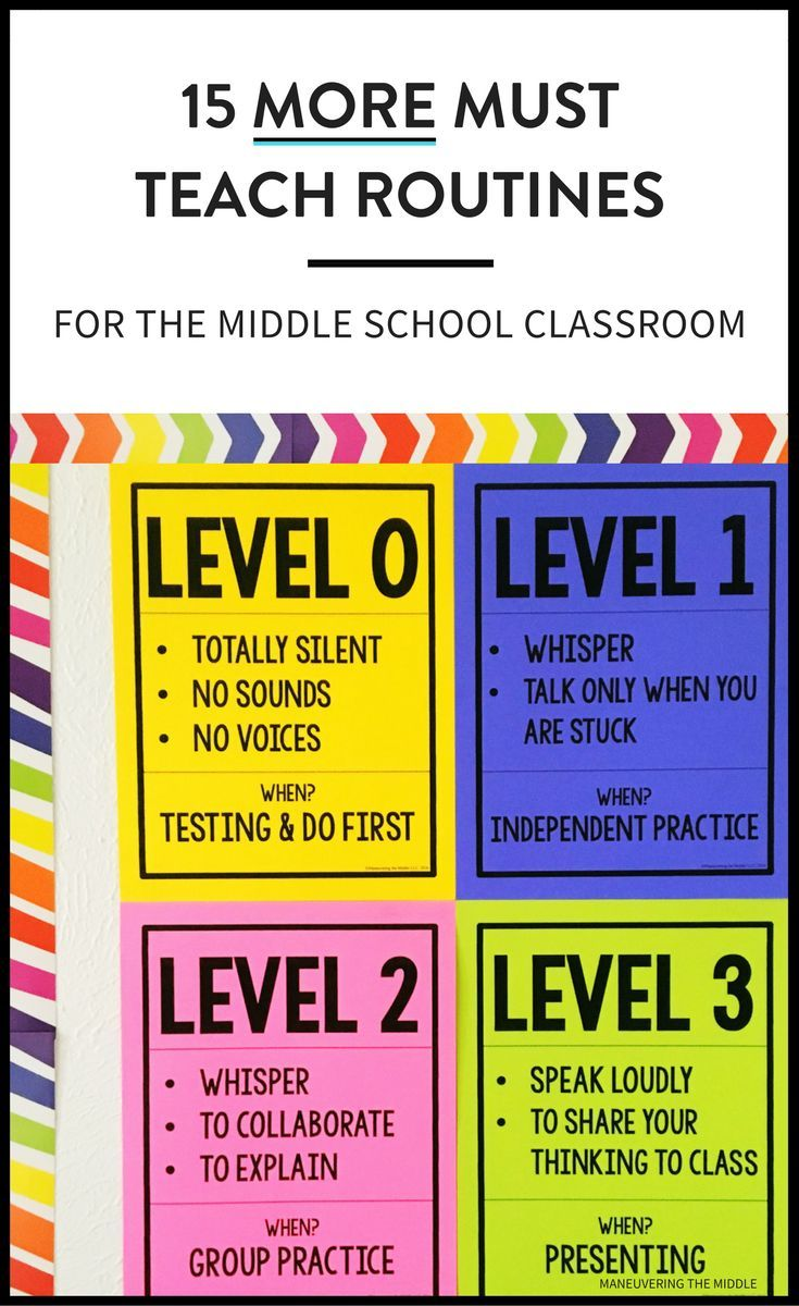 15 more middle school routines and procedures to keep your students on the right track and your classroom running smoothly.   maneuveringthemiddle.com via @maneveringthem
