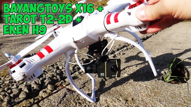 Квадрокоптер с видео камерой и подвесом Bayangtoys X16