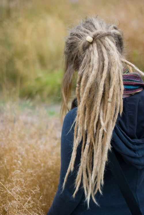 lovely long blonde dreads-wish I had the guts