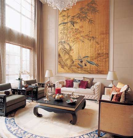 Oriental chinese interior design asian inspired living room home decor www interactchina com
