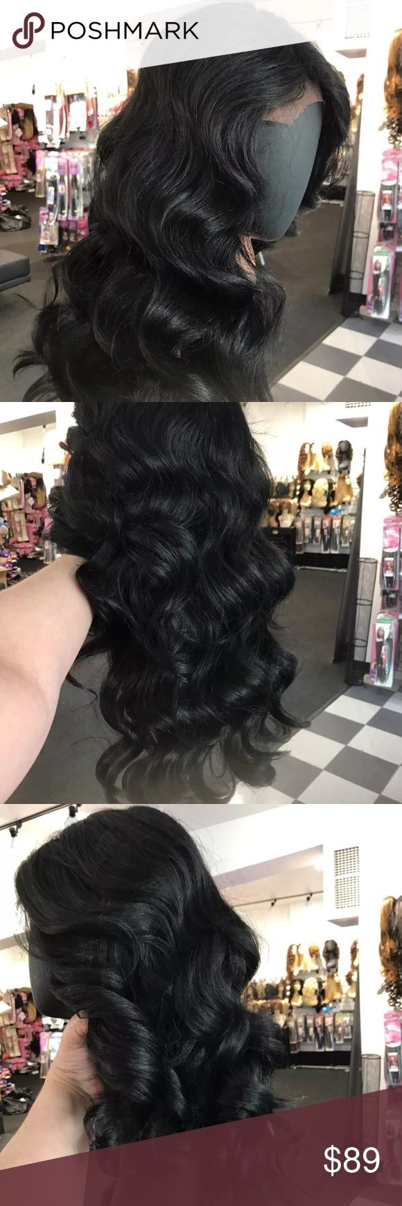 Deep Wave Long Lacefront Swisslace wig High quality Human Like Lacefront Swisslace wig combs inside heat resistant adjustable cap Wig use your styling tools up to 390 I ship ASAP check out my closet my wigs are suitable for cancer alopecia hair loss Accessories Hair Accessories
