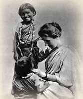 She was commissioned by the Church of England Zenana Mission. Hindu temple children were young girls dedicated to the gods and forced into prostitution to earn money for the priests i.e Devadasi. Much of her work was with young ladies, some of whom were saved from forced prostitution.When the children were asked what drew them to Amy,they most often replied It was love.Amma (Amy) loved loved us. [1]