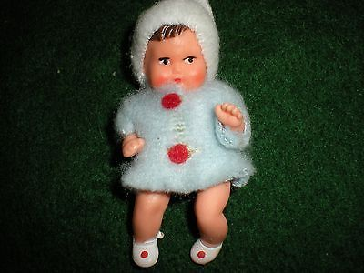 Vintage Shackman German Baby Boy Doll,rubber doll house miniature