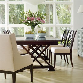 Continuum Double Pedestal Table in Amaretto Cherry