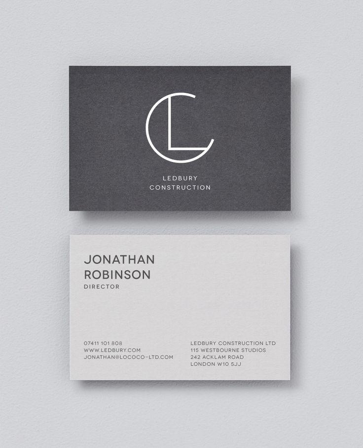 Ledbury On Behance Name Card Design Business Card Design Ledbury
