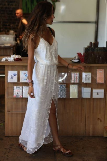 DIY: Ivory linen, with Ivory lace or sheer sewn over it... totally MY dress