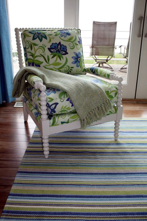 This Sweet And Comfy Miles Talbott Chair Is Upholstered In A Fun Robert  Allen Indoor/
