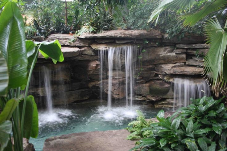 14 best images about indoor waterfall designs on pinterest for Indoor garden pool